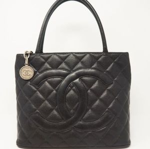 Chanel  Medallion Caviar Quilted Tote